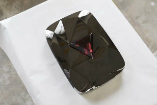 Red Diamond YouTube Play Button