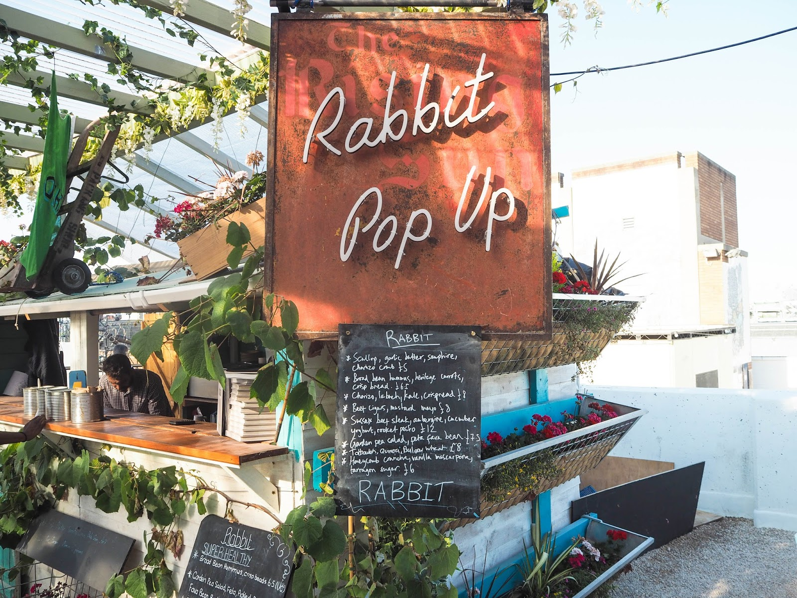 Rabbit restaurant pop-up, Pergola on the Roof