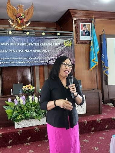 Santy Sastra, Narasumber Pada Kegiatan Bimbingan Teknis DPRD Kabupaten Karangasem