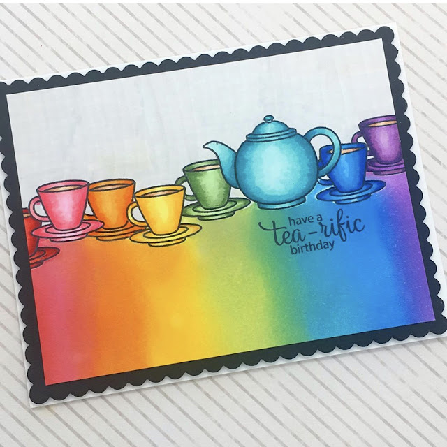 Sunny Studio Stamps: Tea-riffic Customer Card by Claire Lamb