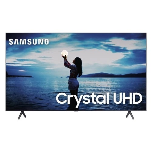 Smart TV 50'' Samsung Crystal 4K UHD 2 HDMI 1 USB Bluetooth Wi-Fi HDR Cinza Escuro - 50TU7020