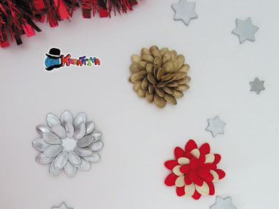 decorare il natale con i semi di zucca