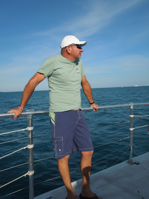 Ron on Sebago boat