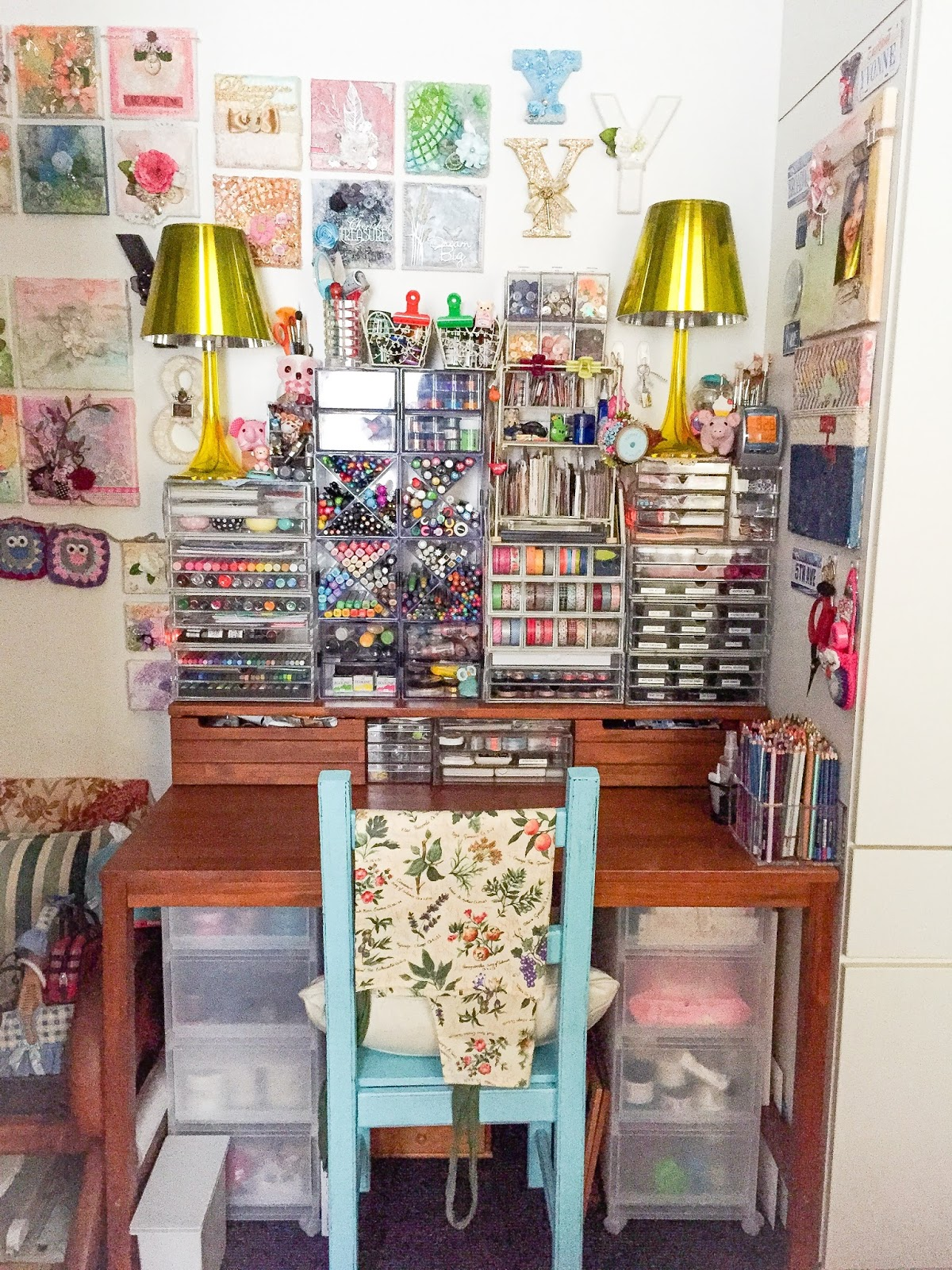 do more with less: storage ideas: how i store my art supplies