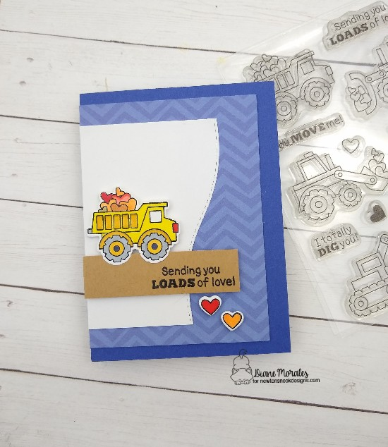 Sending you loads of love by Diane features Love Quarry and Land Borders by Newton's Nook Designs; #newtonsnook