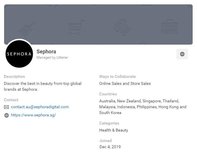 CPAS retail partner: Sephora