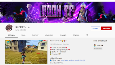Youtuber Gaming Free Fire - RUOK FF