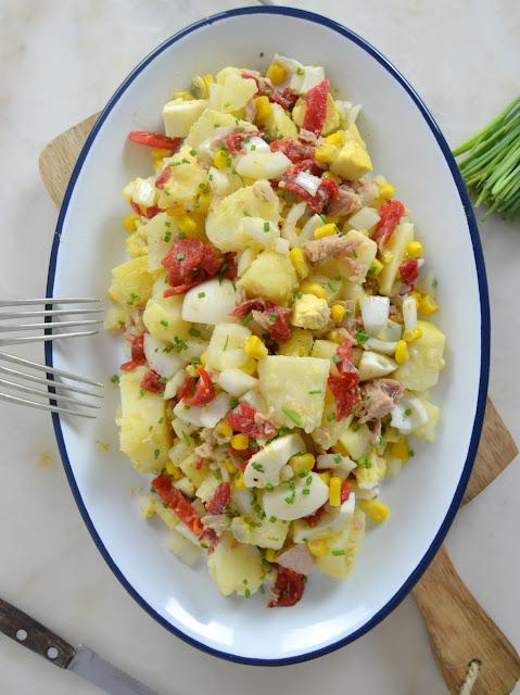 Ensalada de patata y atún ¡Fácil y rica!