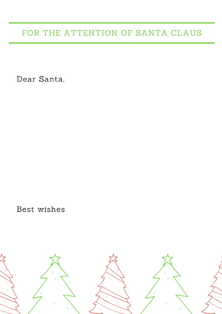 Dear Santa letterhead printable