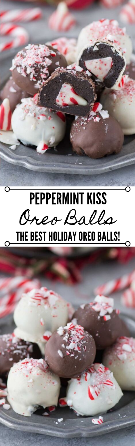 Peppermint Kiss Oreo Balls #desserts #oreo #cakes #yummy #healthyrecipes
