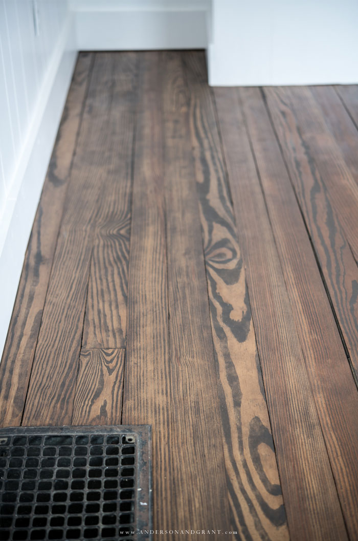 Antique hardwood floors