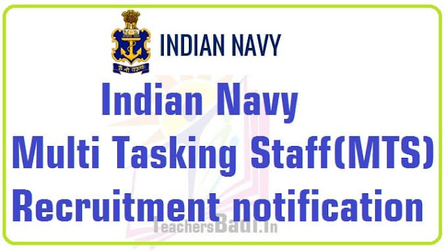 Indian Navy,Multi Tasking Staff(MTS),Recruitment 2016 notification