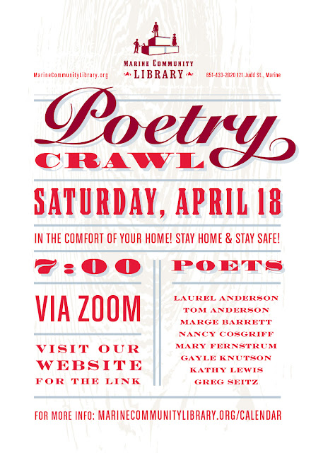 Marine poetry crawl poster
