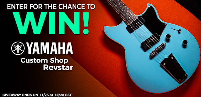The Music Zoo has a chance for musicians and music lovers to enter to win this free Custom Shop Yamaha Revstar Guitar! Enter the giveaway now!