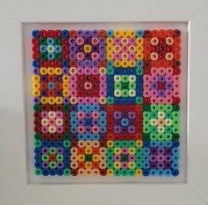 Colourful Hama bead design