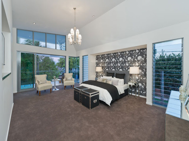 Photo of large modern bedroom in contemporary home in Brisbane