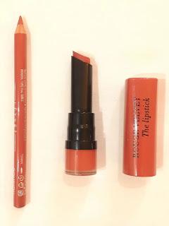 Bourjois Paris Contour edition Lip Liner and Rouge velvet lipstick