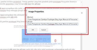 Cara Pengaturan Gambar Postingan Blog Agar Muncul di Pencarian Google