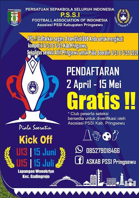 Info Lomba dan Event Lomba Sepak Bola Piala Soeratin Kabupaten Pringsewu