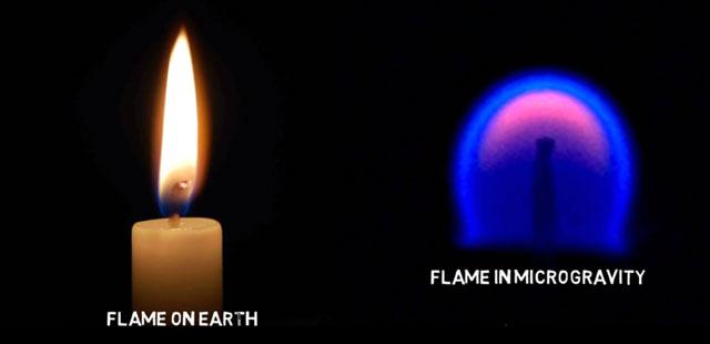 Api di Bumi dan di Luar Angkasa Bentuknya Berbeda