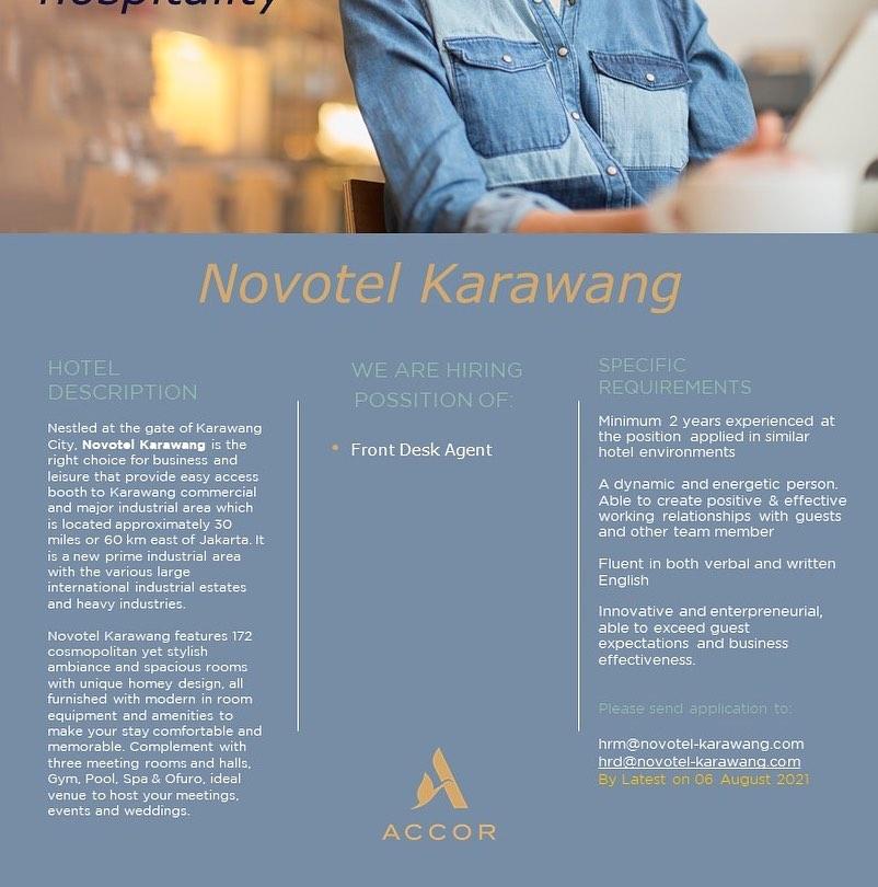 Loker HOTEL NOVOTEL KARAWANG