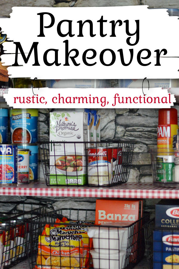Pantry Makeover, Rustic, Charming Functional