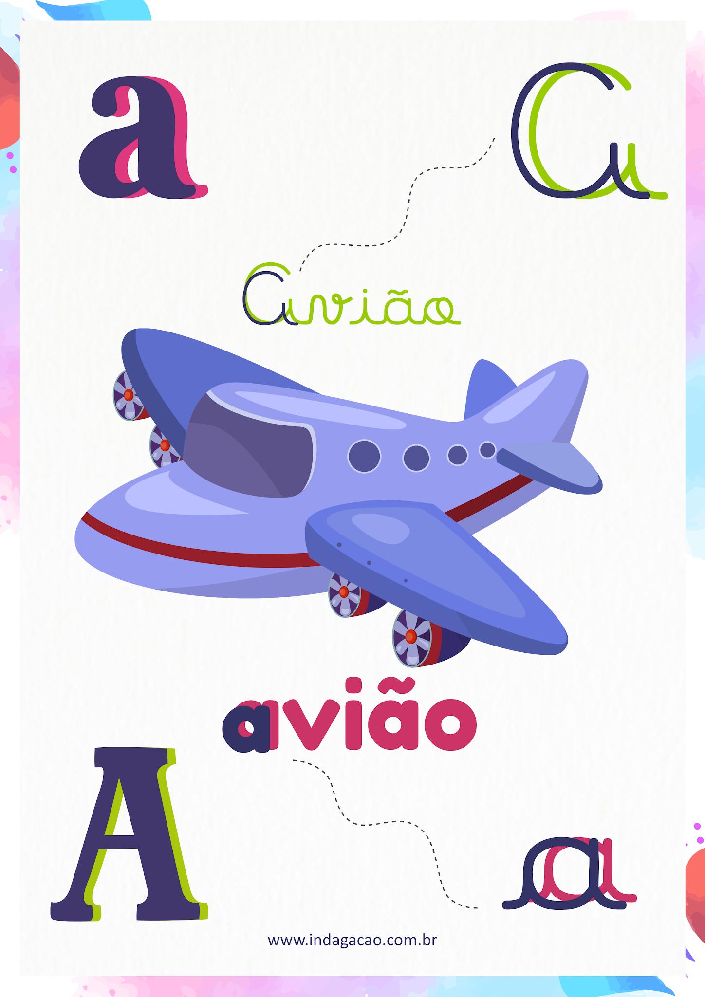 Alfabeto Ilustrado Letra A; baixar