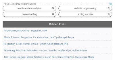 Related Post di Bawah Iklan Tengah Postingan Blog