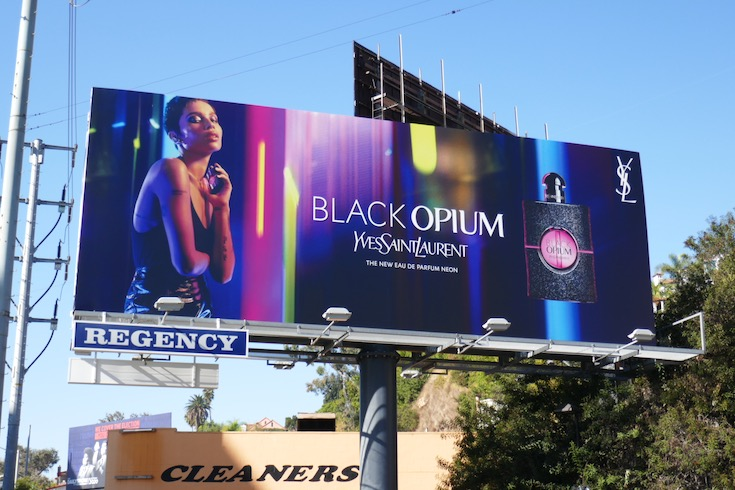 Black Opium Yves Saint Laurent Neon billboard