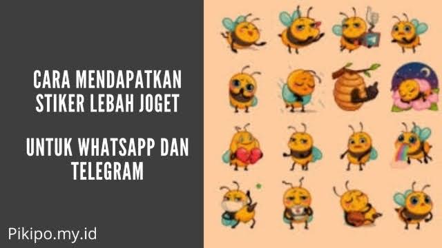 Stiker Lebah Joget WA SweetyBee yang Viral dan Cara Mendapatkanya