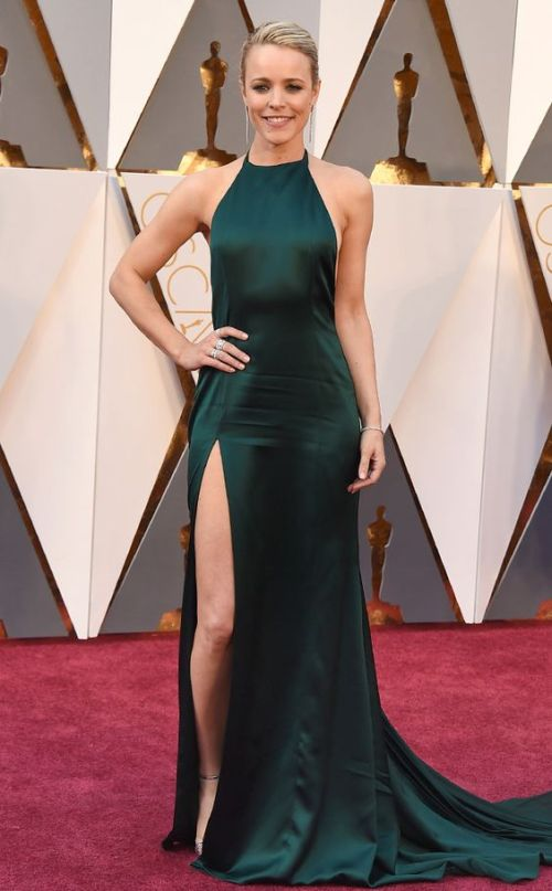 Rachel McAdams in an August Getty Atelier petrol dress at the Oscars 2016