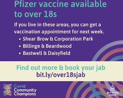 Areas of Blackburn surge vaccinating