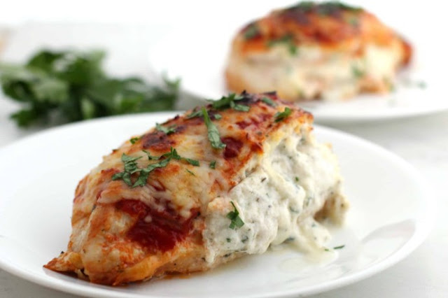 Lasagna Stuffed Chicken #keto #lowcarb
