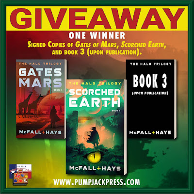 Scorched Earth tour giveaway graphic. Prizes to be awarded precede this image in the post text.