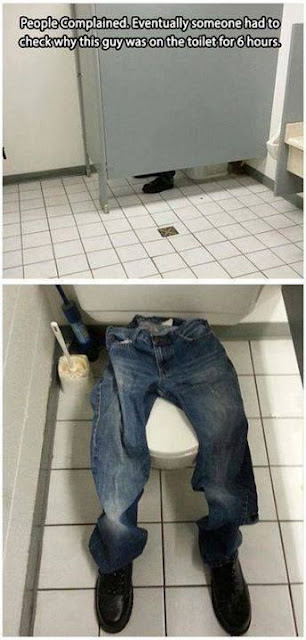 bathroom prank, office bathroom prank, on the toilet for 6 hours, department store prank, april fool's day funny