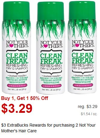 Not Your Mothers Shampoo CVS Deal $0.97 12/15-12/21
