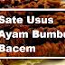 Resep Sate Usus Ayam Bumbu Bacem Enak Sederhana
