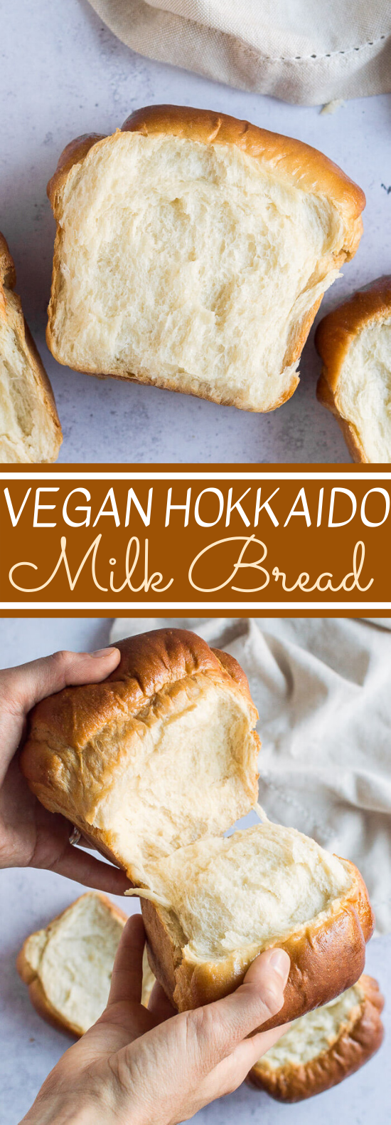Vegan Hokkaido Milk Bread #vegan #recipe #baking #breaf #breakfast