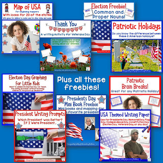 Learning About the USA freebies!