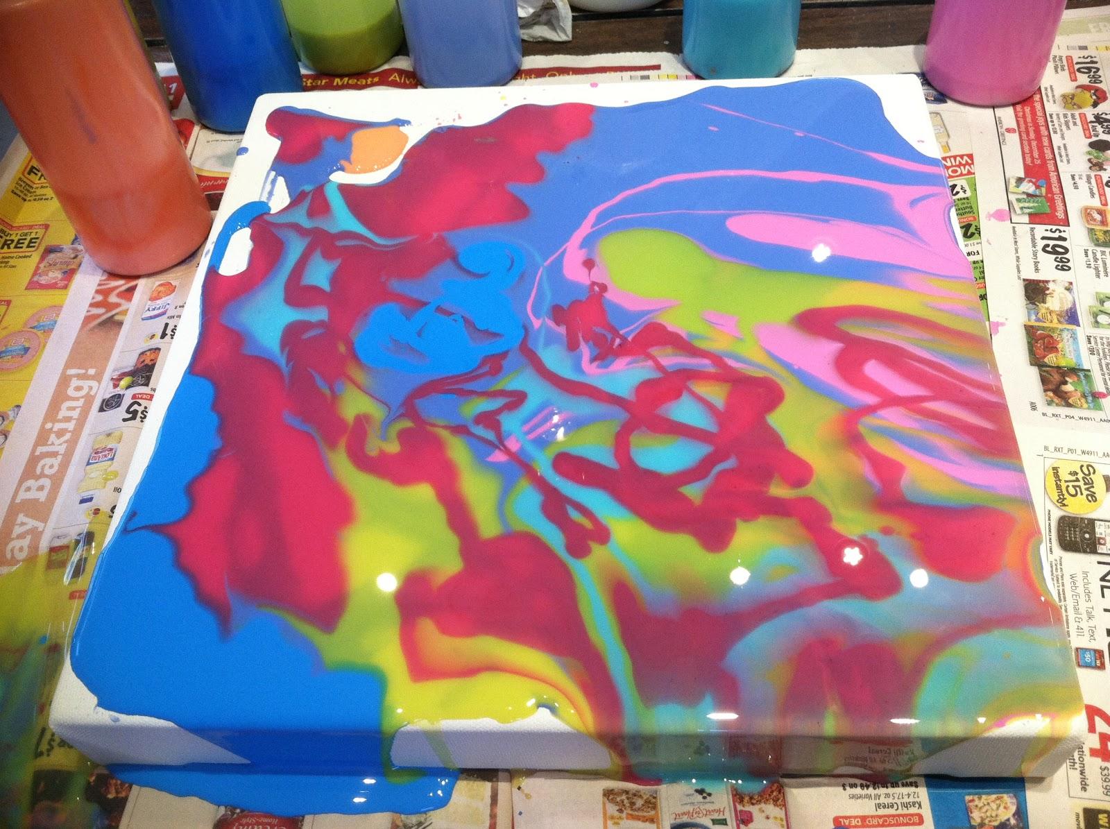 Kelly Thiel Studio 187 Painting Tutorial Liquitex Pouring