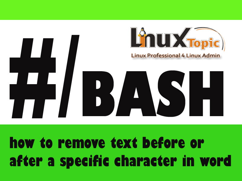 tags: how to remove text before or after a specific character in word, bash remove character from string, sed remove character, sed remove character after match, sed remove character before match