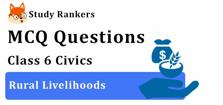 MCQ Questions for Class 6 Civics: Ch 8 Rural Livelihoods