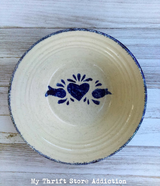 blue spatterware pottery
