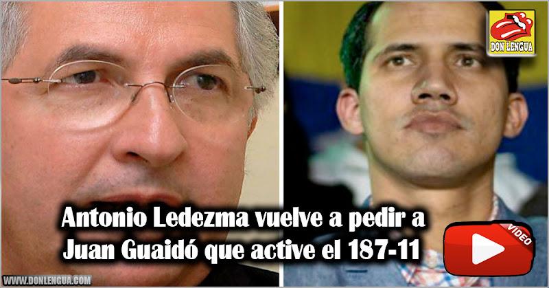 Antonio Ledezma vuelve a pedir a Juan Guaidó que active el 187-11