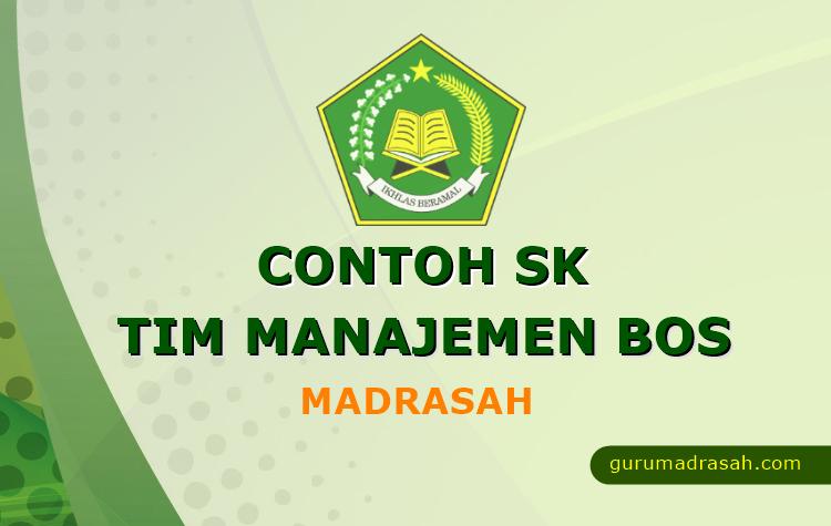 Contoh Sk Tim Manajemen Bos Madrasah Guru Madrasah