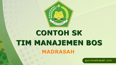 Contoh SK Tim Manajemen BOS Madrasah