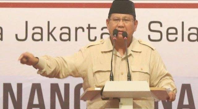 Prabowo Pesan Aksi damai: Yang Mau Bikin Kekerasan Bukan Sahabat Saya