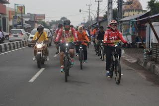 Sepeda Santai, Korem 063 Gunung Jati Ingin Dekat Masyarakat