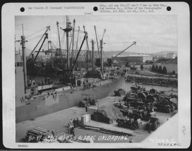 USS Alamac being unloaded at Reykjavik, 6 August 1941 worldwartwo.filminspector.com