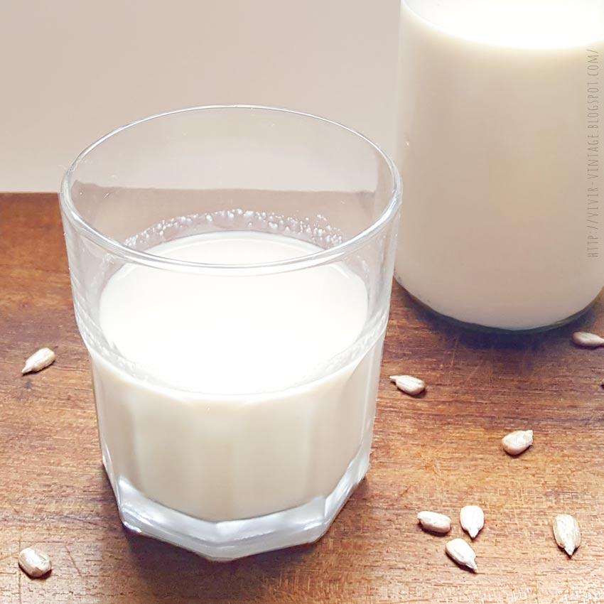 leche semillas de girasol receta